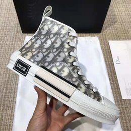 Shoe box packaging online shopping - 2019 new limited edition custom printed canvas shoes fashion versatile high and low shoes with original packaging shoe box delivery