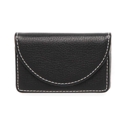 Business Card Holder Magnetic NZ - High Quality Leather Business Card Holder Case for Men or Women Credit Name Card Case Holder with Invisible Magnetic Hasp