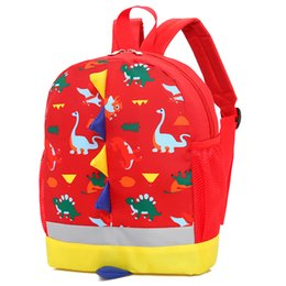 cute dinosaur cartoons NZ - 2018 Cute Toddler Backpack Anti-lost Kids Children Print Bag Cartoon Dinosaur School Bag 4Colors