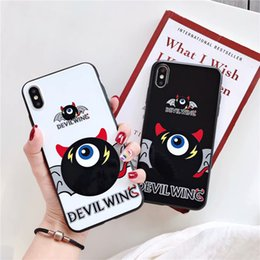 $enCountryForm.capitalKeyWord Australia - For iPhone X Xs Max XR 8 7 6 Plus Phone Case Little Devil Wing Fashion Trend Mobile Shell Popular Black Non-slip Simple Protective Cover