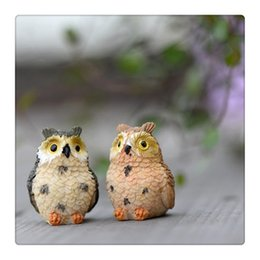 $enCountryForm.capitalKeyWord Australia - Owl Doll Garden Landscape Decoration Resin Fairy Home Garden DIY Decor Micro Ornaments Wedding Engagement Cute