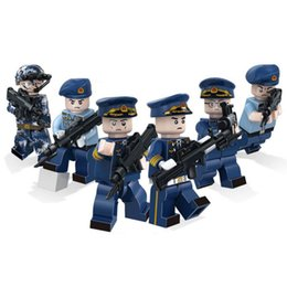 air block Australia - 6pcs Lot Sky Air Eagle Army Air Force Military Special Force Figure with Weapon Building Blocks Brick Toy For Boy