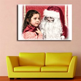 Framed Christmas Paintings Australia - Santas Claus Cosplay Christmas Wallpaper Art Canvas Poster Painting Wall Picture Print For Home For Living Bedroom Decoration