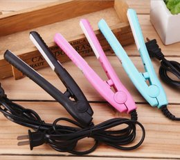 pink ceramic hair straightener Australia - 2019 New Electronic Professional Hair Iron Hairstyling Mini Portable Ceramic Flat Iron Hair Straightener Irons Styling Tools