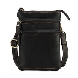$enCountryForm.capitalKeyWord UK - Solid Genuine Leather Shoulder Bag Small Messenger Crossbody Bags Men Travel Handbags New Fashion Waist Belt Packs Hanging Purse