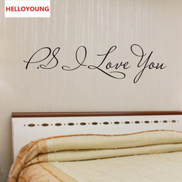 $enCountryForm.capitalKeyWord Australia - Hot selling PS I Love You Vinyl Wallpapers All-match Style Art Mural waterproof Bedroom Wall Stickers Home Decor