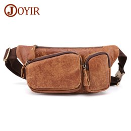 chest belt for men Australia - JOYIR Men's Waist Bag For Phone Male Fanny Pack Men's Genuine Leather Belt Bags Waist Pack Men Money Bag Belt Pouch Chest