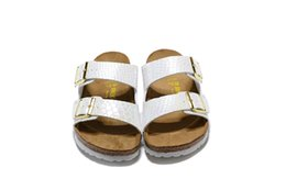 China 2019 new Birkenhead sandals and slippers couple two rows of buckle serpentine ultra light counter flat shoes for both men and women 35-46 cheap row leather suppliers