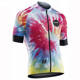 $enCountryForm.capitalKeyWord Australia - NW team Cycling Short Sleeves jersey summer fashion style Quick drying Breathable Outdoor Sports wear Ropa Ciclismo Hombre Free postage