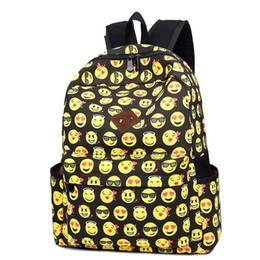 f06dbfd952 good quality High Quality Emoji Design Backpack Female Canvas School Bag  For Teenage Girls Smile Face Printed Backpack Women