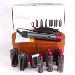 Box handles online shopping - Newest Multi function hair styling Electric Curling Wand Hair dryer Curling Iron Trinity head with gift box