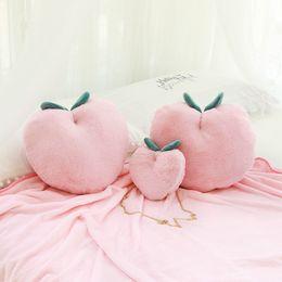 $enCountryForm.capitalKeyWord Australia - 1pc Pink Plush Food Fruit Peach Toy Dolls Stuffed Plant Cushion Pillow INS Fashion Peach Bag Gifts for Girl Xmas Birthday Valentine's Day