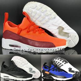 Nike Air Max 90 Zapatos de niños EZ Grande NegroBlanco