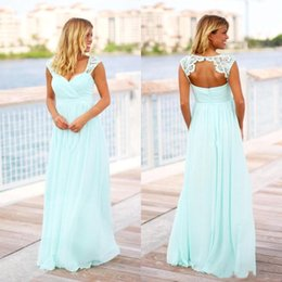 long coral maternity bridesmaid dresses 2019 - Cheap Vintage Mint Green Bridesmaid Dresses Cheap Country Long Floor Length Beach Backless Pregnant Maid oF Honor Dress