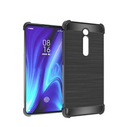 $enCountryForm.capitalKeyWord Australia - Redmi K20 and K20 Pro Carbon Fiber brushed shockproof TPU Cellphone Case Slim Soft Anti-slip with retail package and free shipping