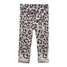 Gray Leggings Wholesale Australia - New leopard print Kids Leggings Cotton Girls Leggings Girls Tights Children Trouser Casual Pants kids designer clothes kids clothing A4468