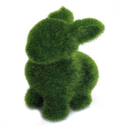 $enCountryForm.capitalKeyWord UK - Novelty Handmade Artificial Turf Grass Animal Rabbit Home Office Ornament Room Easter Bunny Baby Kids Toy Artwork Handiwork Gift C19041601