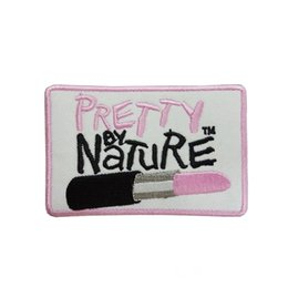 $enCountryForm.capitalKeyWord Australia - pretty by Pink lipstick brand clothing trousers patch embroidery badge free shipping diy can be custom