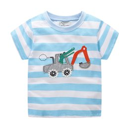 Wholesale Cotton latest style soft children tops excavator cute boys t shirt summer