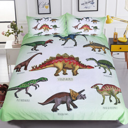 leopard print goods Australia - 3D Dinosaur family turtle bedding set queen king size reactive printing good fastness cartoon designs tiger leopard linon cat seatacion