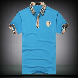 Polo Ralph Man Australia - High quality 100% cotton T-shirt polo men ralph men's shirt busines homme designers polo shirt embroidered lapel polo shirt Free shipping