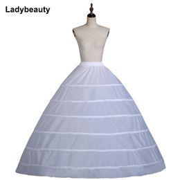 $enCountryForm.capitalKeyWord Australia - 2018 High Quality White 6 Hoops Petticoats Crinoline Underskirt For Ball Gown Wedding Dress Bridal Gown In