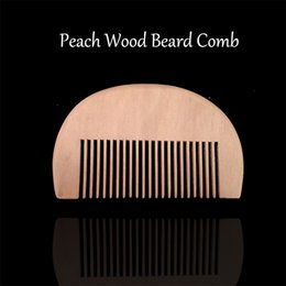 men hair beard styles NZ - New Men Pocket Hair & Beard Comb Peach Wood Fine Tooth Hair Care Styling Tool Anti Static For Grooming Oil balm 50pc lot Free Shipping