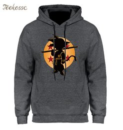 Wholesale Dragon Ball Z Pocket Hoodie Men Japan Anime Hoodies Mens Dragonball Hooded Sweatshirt Winter Pullover Long Sleeve Outerwear T2190603
