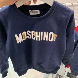 2020 yeni stil perakende bebek kıyafetleri ilkbahar erkek kız uzun bluz pamuklu kazak sleeve