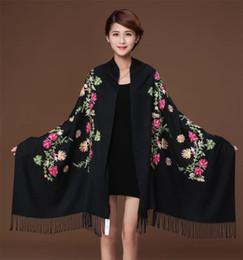 $enCountryForm.capitalKeyWord Australia - New embroidery Flowers scarf women Cashmere cotton viscose shawls soild plain embroider scarfs muslim tassels hijabs GP02