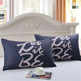 $enCountryForm.capitalKeyWord Australia - BeddingOutlet Elegant Letters Decorative Pillow Case Cover Gift One Pair Fashion bedroom Pillows Cover Bedding Set Capa 50x75cm