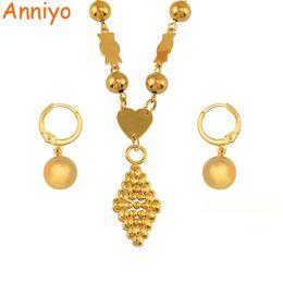 $enCountryForm.capitalKeyWord Australia - Anniyo Micronesia Jewelry Sets Ball Beads Pendant Necklace Earrings Women Round Bead Chain Marshall Jewellery Gifts #143706 J190523