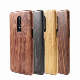 rosewood iphone NZ - For Oneplus 6T 6 walnut Enony Wood Rosewood MAHOGANY Wooden Slim Back Case Cover