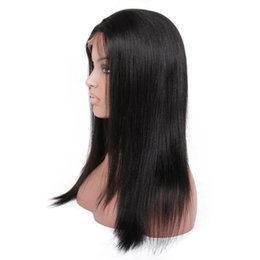 $enCountryForm.capitalKeyWord UK - Yaki Straight Pre Plucked Hairline Full Lace Wig Bleach Knots Human Hair Wigs Natural Color 8-30 Inches Remy Hair Wigs Heat Resistant