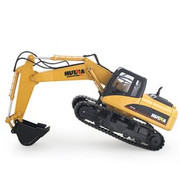 kids electric car free ship UK - Electric Huina Toys 350 15 Channel 2 .4g 1  12 Rc Plastic Excavator 1 :12 Rc Car With Charging Battery Kid Toy Christmas Gift Free Shipping