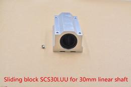 Linear Blocks Australia - SC30LUU SCS30LUU bearing 30mm linear bearing slide block for 30mm rod round shaft XYZ Table CNC 1pcs