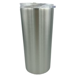 Wholesale Items Sold Australia - New Hot Selling Item Double Walled 304 Stainless Steel Vacuum Insulated 16 OZ Skinny Tumbler Mugs With Lid and Straw Straight Style
