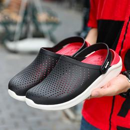 Clogs Leather Canada - New Design Anti-Slip Clogs Shoes Classic Garden Clogs Good Quality Fashion Men Rubber Garden Shoes 2019