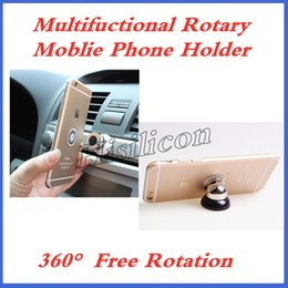 $enCountryForm.capitalKeyWord Australia - Retail Mental Multifuctional Rotary Moblie Phone Holder With 360 Degree Rotation Car Holder For iphone X XR 6S 7p 8 Smartphone