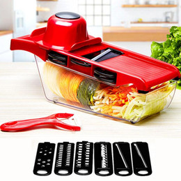 $enCountryForm.capitalKeyWord Australia - Manual Potato Peeler Carrot Grater Dicer Christmas Party Mandoline Slicer Vegetable Cutter With Stainless Steel Blade CFYZ33