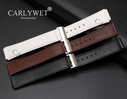 Smart Watch Brown Australia - CARLYWET 15mm Released Spring Bar Leather Watch Band Strap Smart Wrist Bracelet with Deployment Clasp Black Brown For Huawei B2