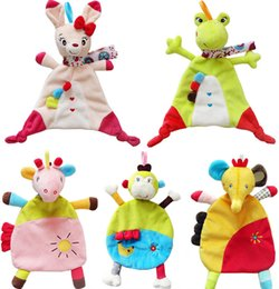 $enCountryForm.capitalKeyWord Australia - 5style Baby Soft Towel Donkey Rabbit Frog Monkey Elephant Comfort Appease Plush Rattles Toy Comforter Blanket Hot Selling