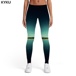 Xl Womens Leggings Australia - KYKU Galaxy Leggings Women Cloud Spandex Aurora 3d Print Space Leggins Harajuku Printed pants Womens Leggings Pants Jeggings