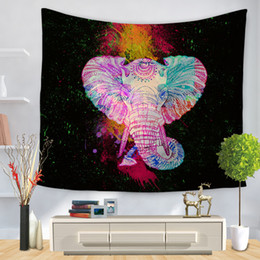 $enCountryForm.capitalKeyWord NZ - 3D Digital Printing Elephants Tapestries Modern Home Decor Wall Hanging Carpets European American Living Room Art Wall Blankets
