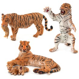 forest figures Australia - Cross Border Solid Animal Paradise Wild Animal Model CHILDREN'S Toy Forest Tiger Animal Model