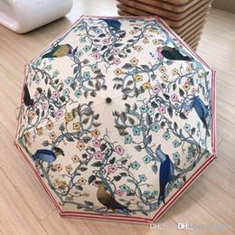 Cotton sun umbrella online shopping - Alligator Pattern Fully Automatic Parasol Sun Umbrella Three Folding Umbrella Men s and Women s Business Umbrellas