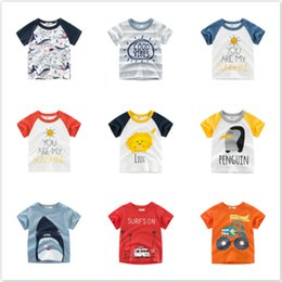 $enCountryForm.capitalKeyWord NZ - New Cartoon Animal Print Baby Boys Whale T Shirt For Summer Infant Kids Girl Car T-Shirts Clothes Cotton Toddler Letter Tops Tee