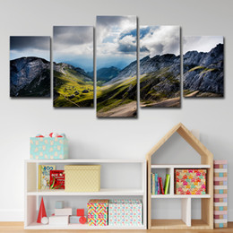$enCountryForm.capitalKeyWord Australia - 5 Pieces Mountains Canvas painting Modern Wall Art Picture Home Decoration Landscape Poster Painting Room Decor