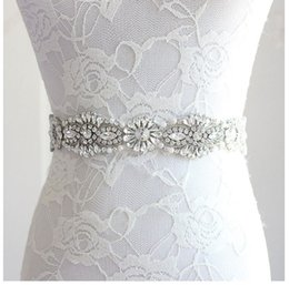 girls dress made diamonds UK - XW66 Bride's Hand-made Belt, Waist Seal of Luxury Diamond Pearl Dresses in Europe and America, Factory Direct Sales, Various Colors