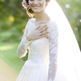 Jackets Custom Australia - Fashion New Women's Lace Appliques Wedding Jacket Wraps Off Shoulder White Ivory Bridal Bolero Long Sleeve Custom Jackets